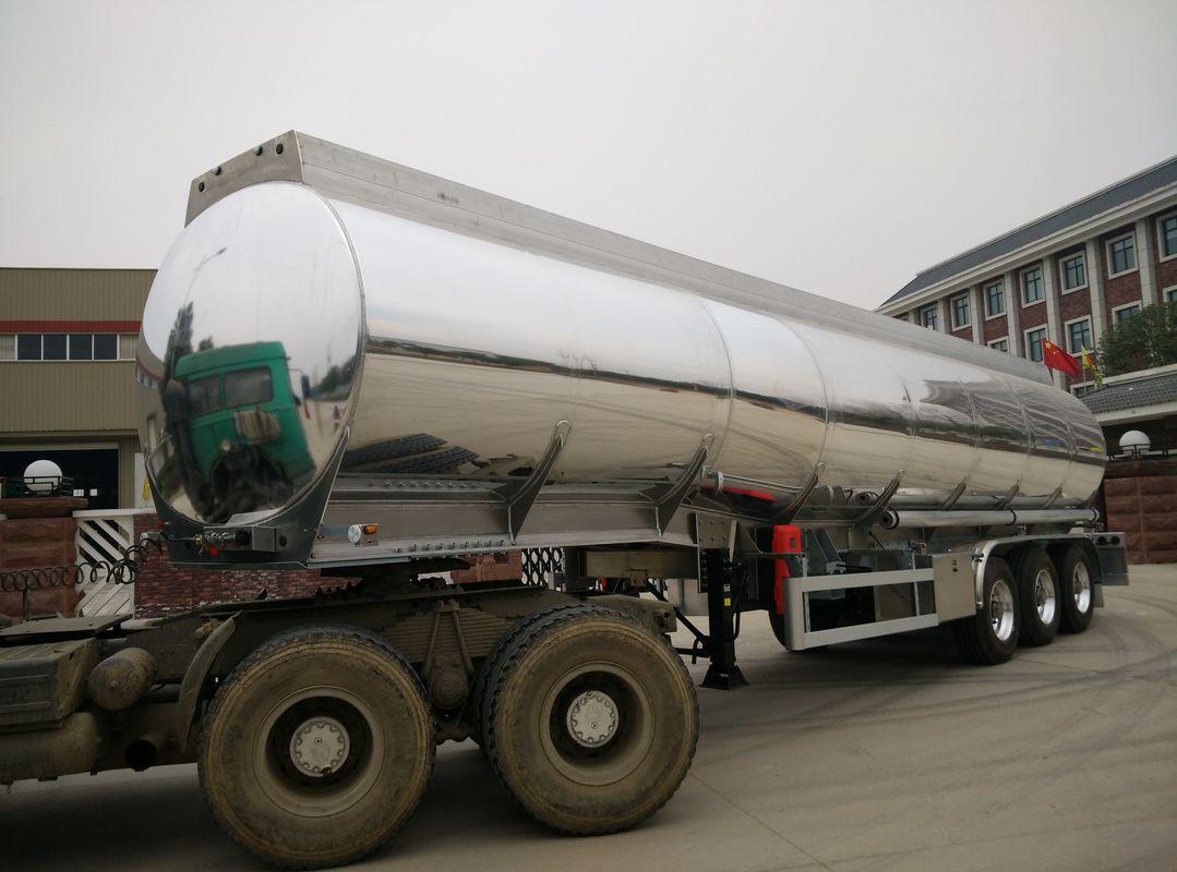 42000 Liters Oil Fuel Tank Heavy Duty Semi Trailers With
